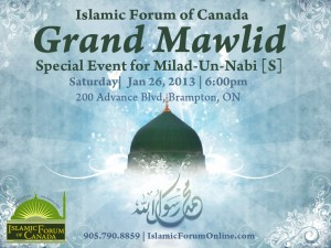 Grand Mawlid - Milad un Nabi - Jan 26, 2013